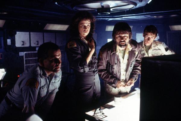 Crew of the Nostromo in Alien