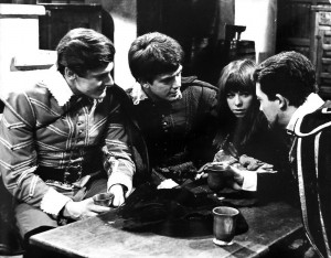 another scene with Annete Robertson, Peter Purves and two other actors in a tavern