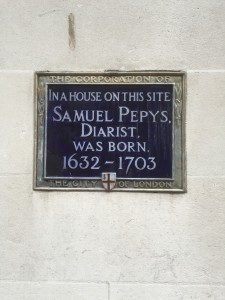 Pepys birthplace plaque