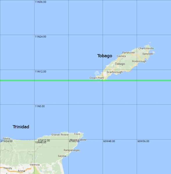 i think it s this map rather than the togo or pacific island maps that brings home just how narrow the togo tobago line is you can almost see the trucks