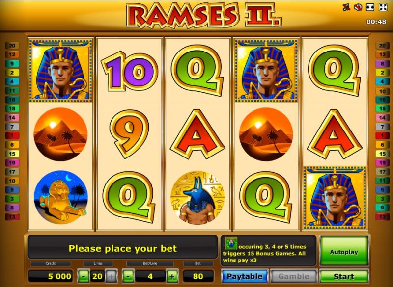 Ramses II Deluxe слот