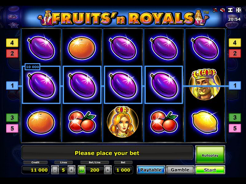 Fruits and Royals слот