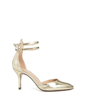 золотые туфли асос