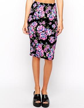 юбка с цветами нью лук