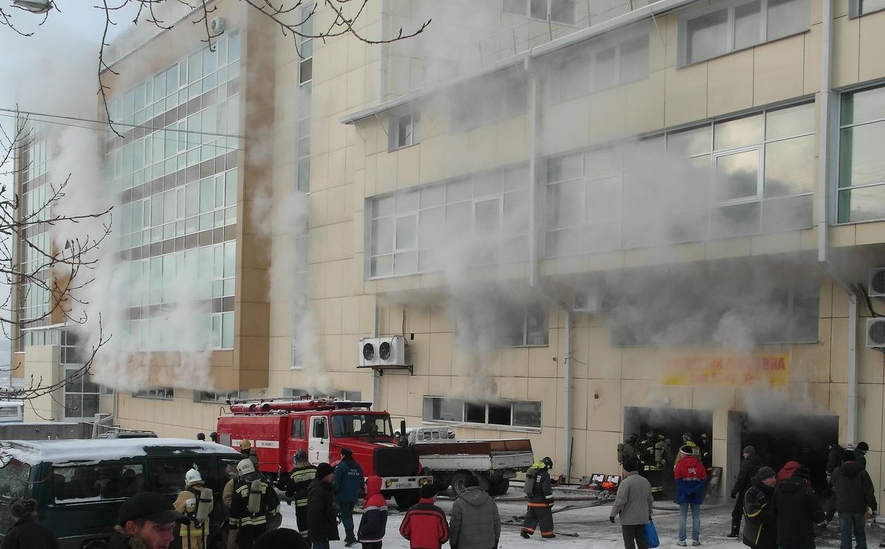 Пожар на улице Лагоды