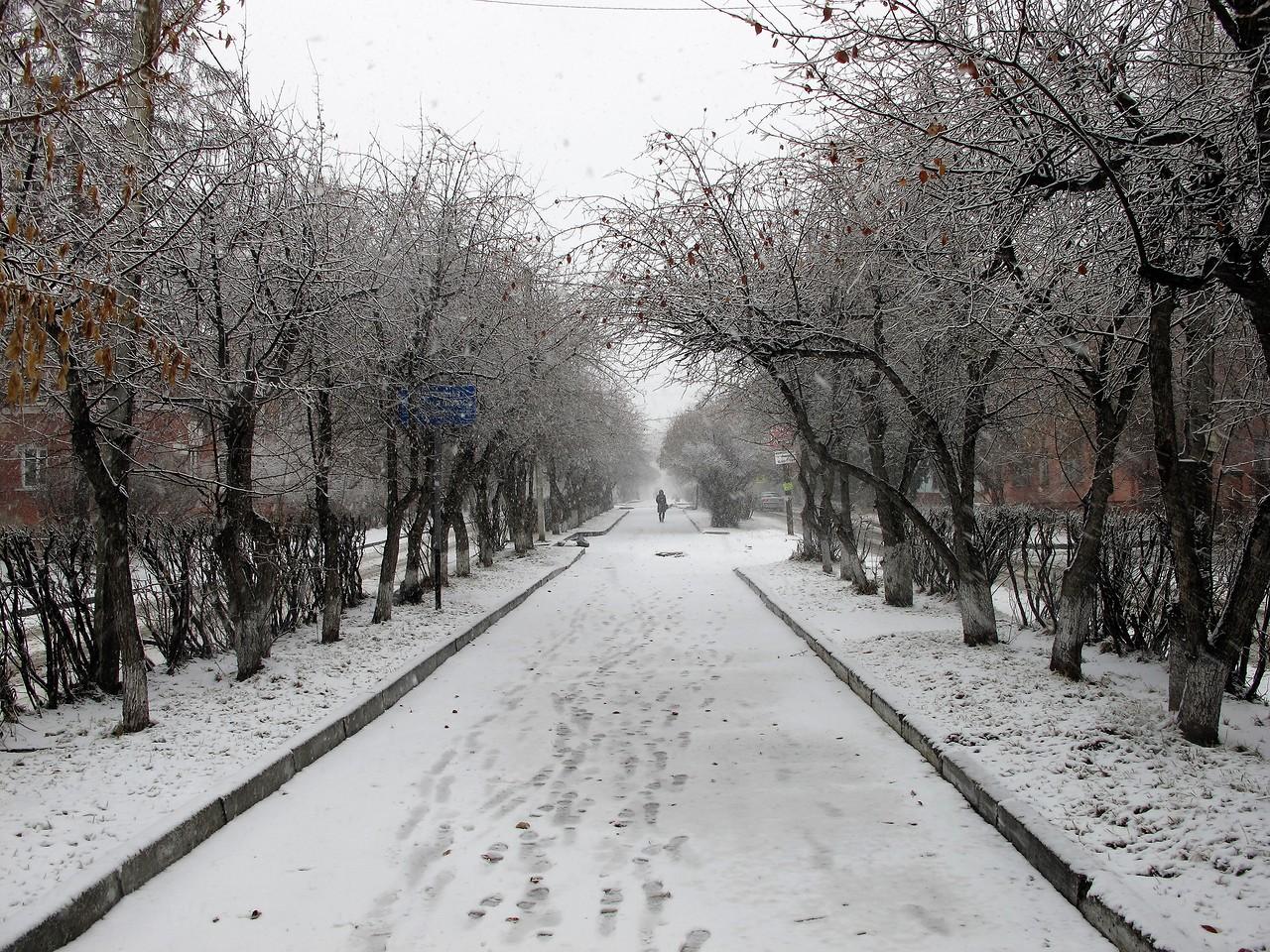 Зима вернулась в Иркутск