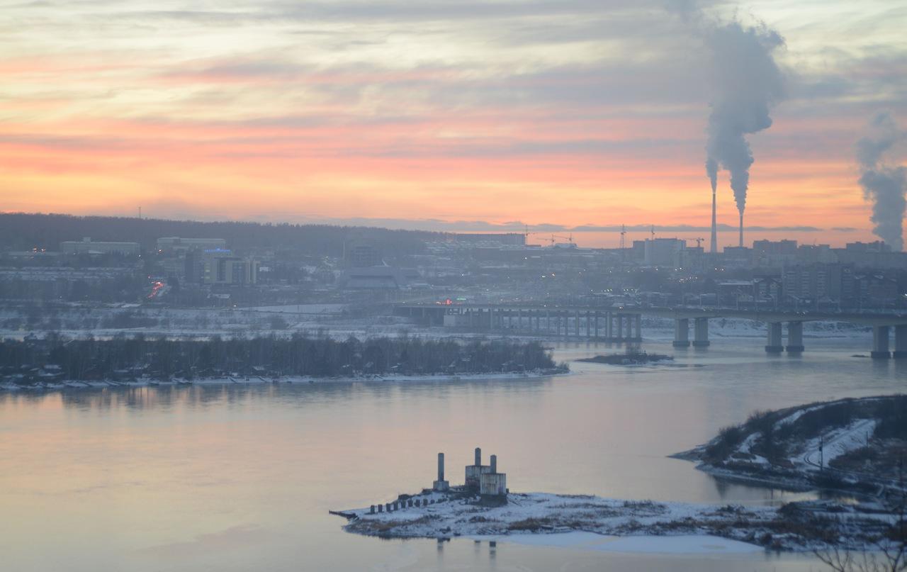 Иркутск, закат