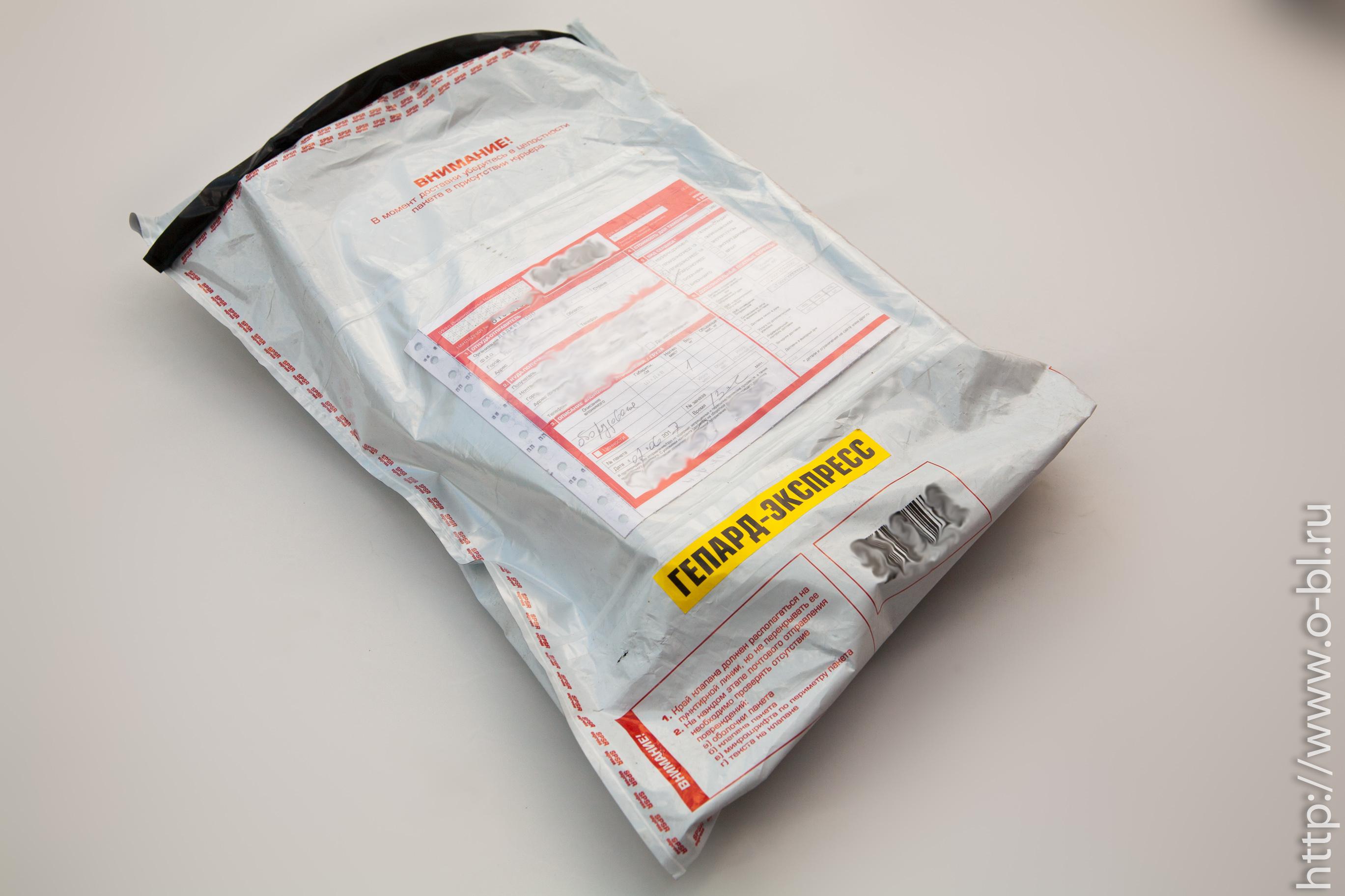 Вот такой пакетик я получил на третьи сутки