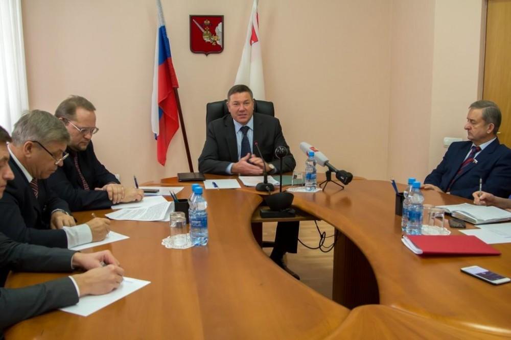Встреча председателя городоксокого райисполкома петра коробача с делегацией во главе с главой бабаево юрием