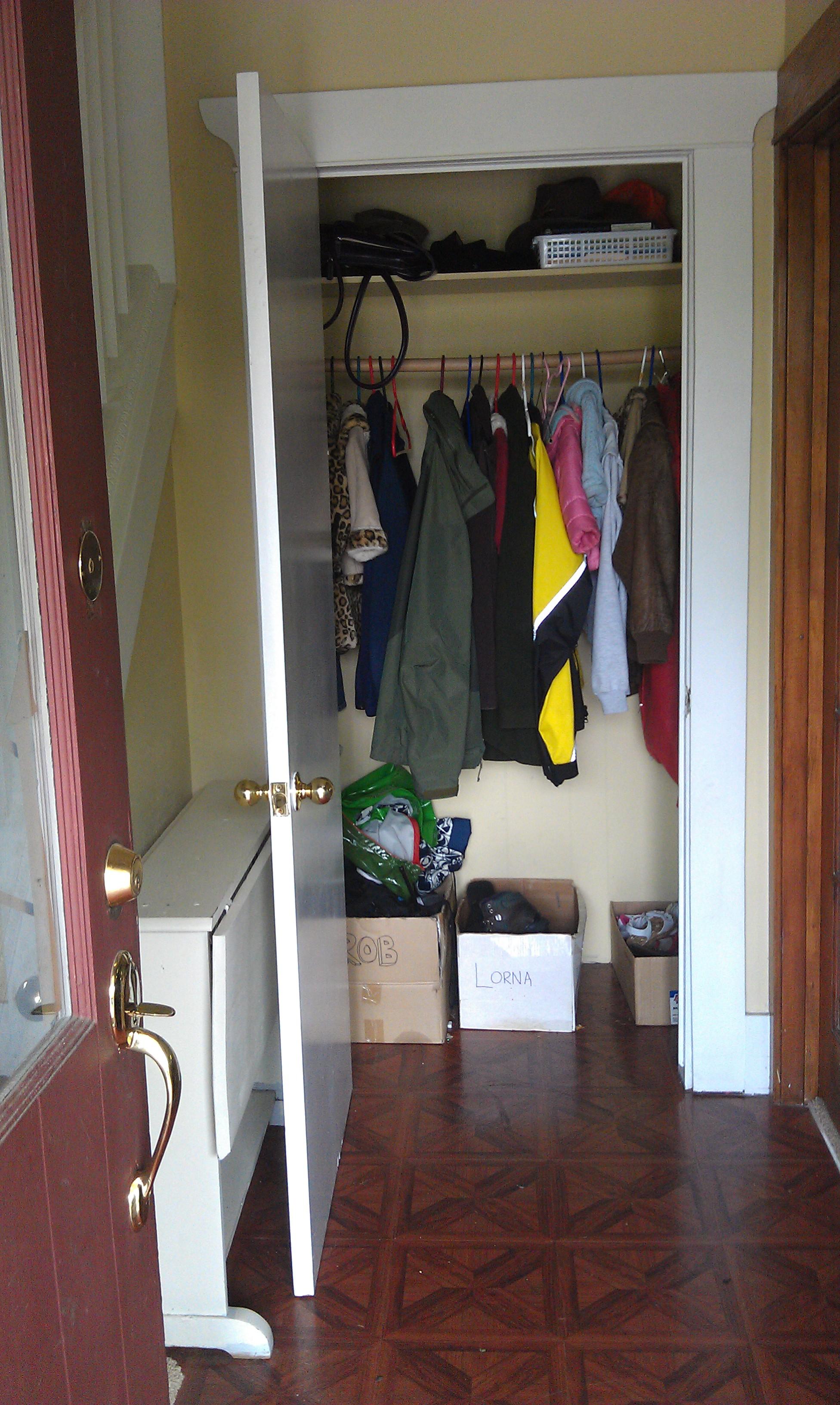 Before Closet Interior