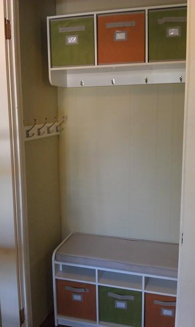 During Interior of Closet