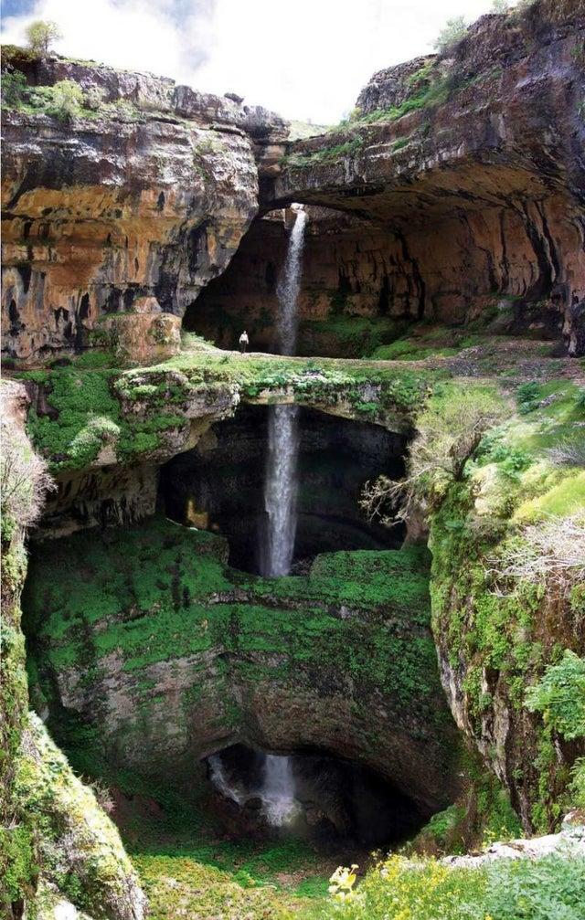 Тройной водопад Ливан
