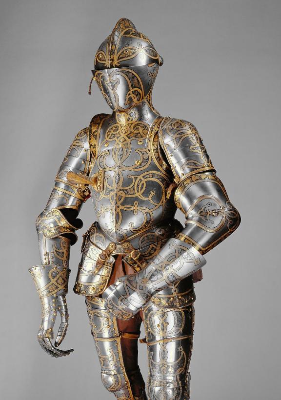 Латы всадника (Küriss) для  турнира, плетеные ленты гарнитур 1528г