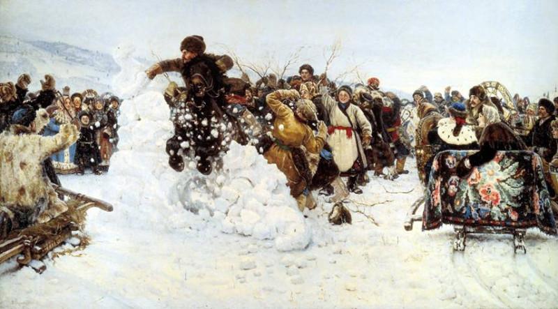 «Взятие снежного городка», Суриков, 1891