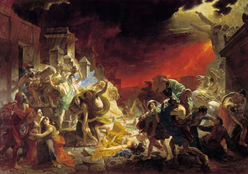 «Последний день Помпеи», 1833, Брюллов
