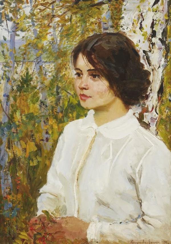 Богданов-Бельский Николай, картина портрет девушки