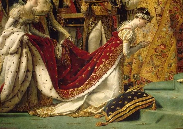 Жозефина Богарне, первая жена Наполеона.Фрагмент картины Коронация Наполеона I и императрицы Жозефины. Жак - Луи Давид