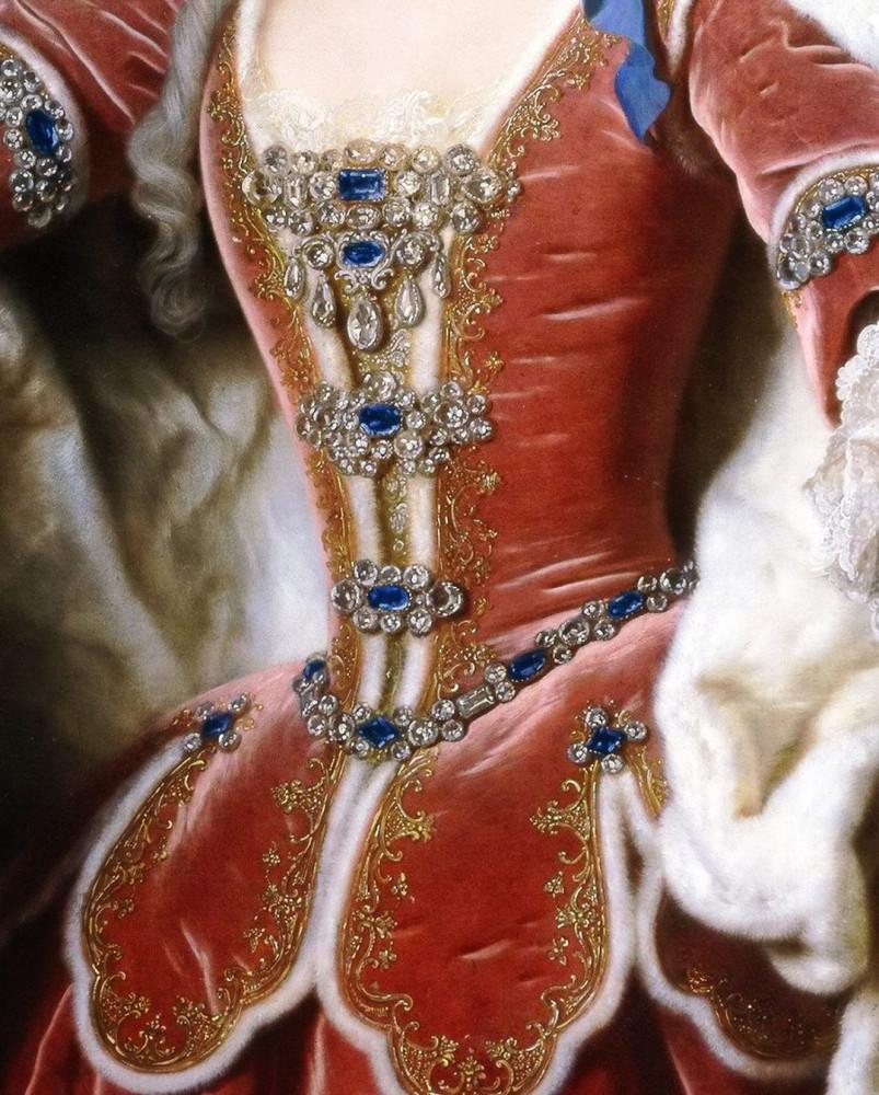 Деталь портрета Элизабет Фарнезе, принцессы Пармы и королевы Испании. Жан Ранк (1674-1735)