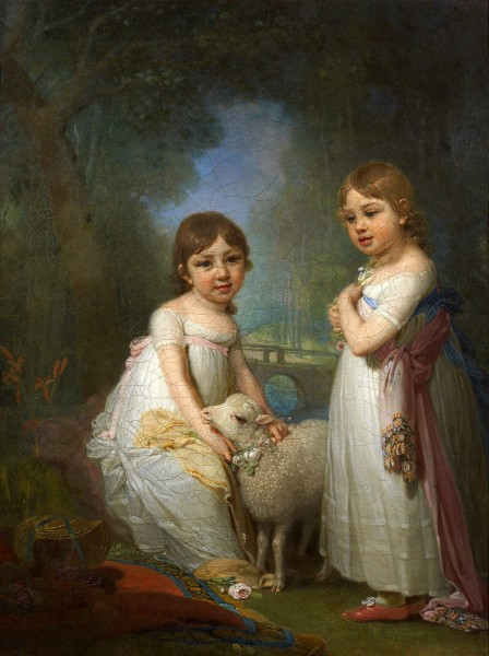 Children_with_lamb_by_Borovikovsky