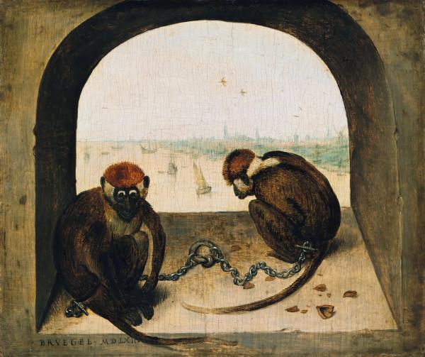Pieter_Bruegel_de_Oude_-_Twee_geketend_apen
