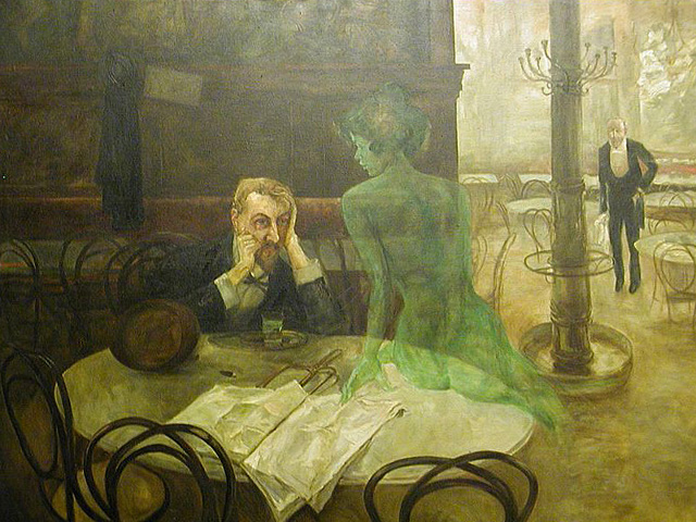 The_Absinthe_Drinker_by_Viktor_Oliva-640