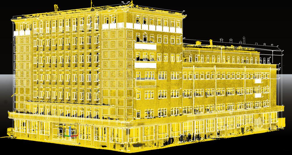 Лазерное сканирование фасадов