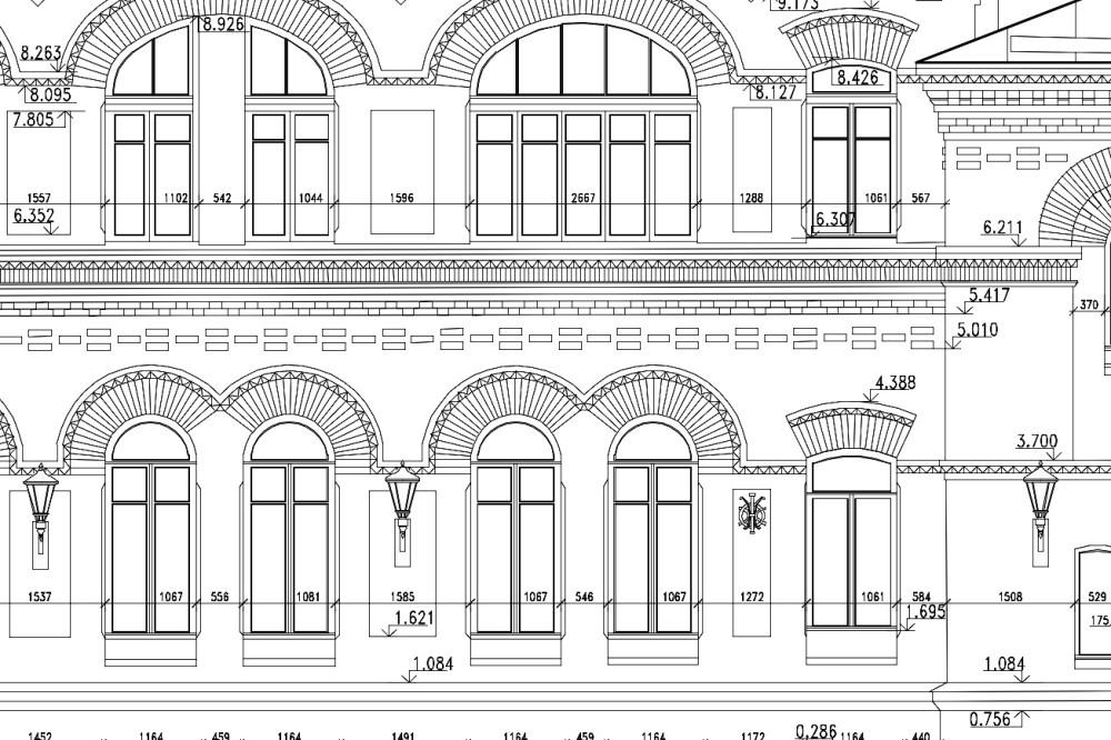 Обмер фасада