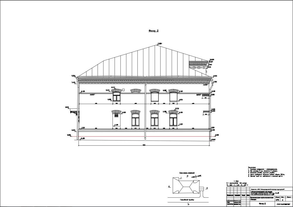Обмер фасада 4