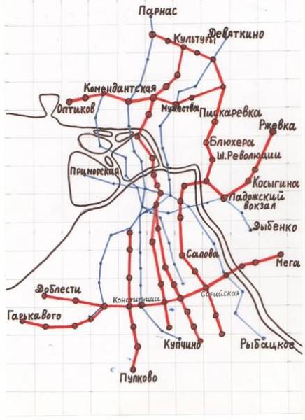 схема метро в Петербурге-1