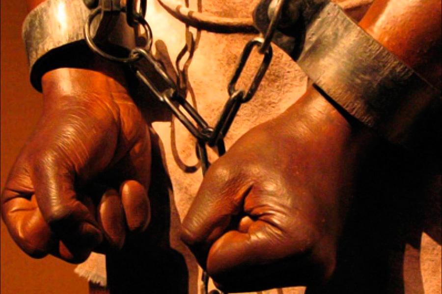 фото рабов в кандалах корпусе колонки реализовано