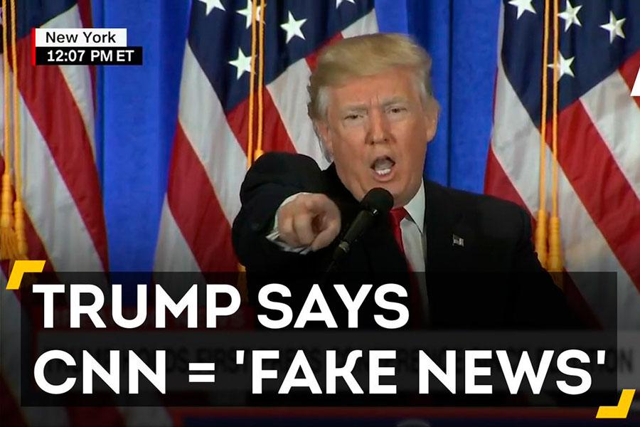 Президент США назвал канал CNN фейк-ньюс