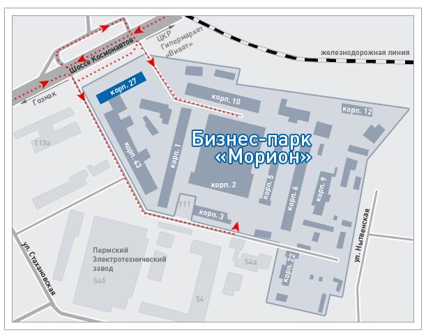 "Схема бизнес-парка ""Морион"""