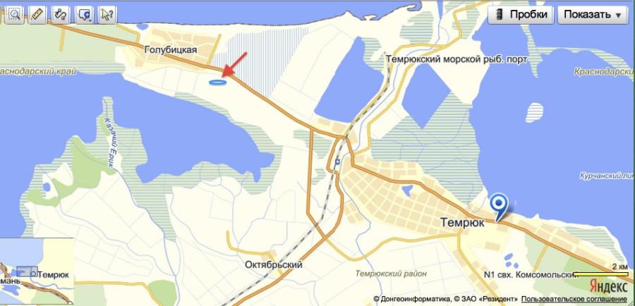 карта ловли рыбы в краснодарском крае