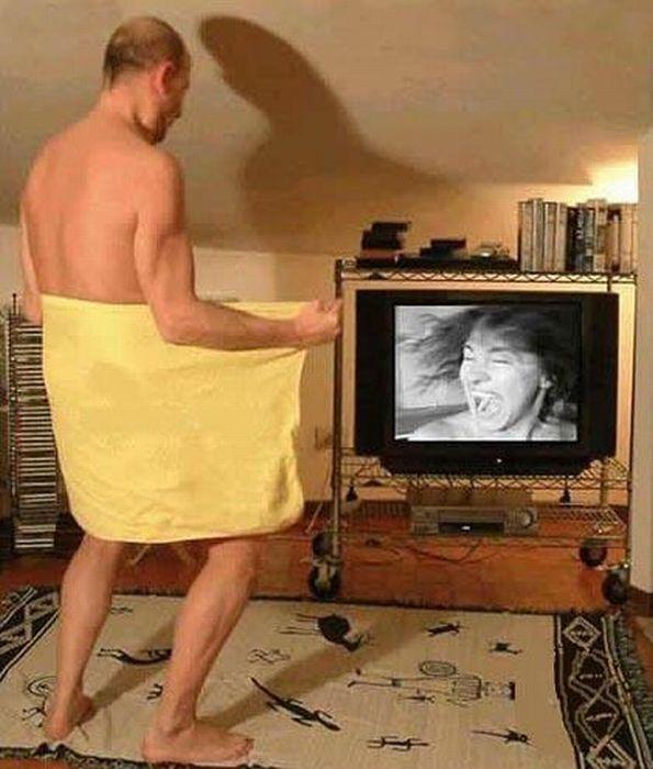 напугай телевизор