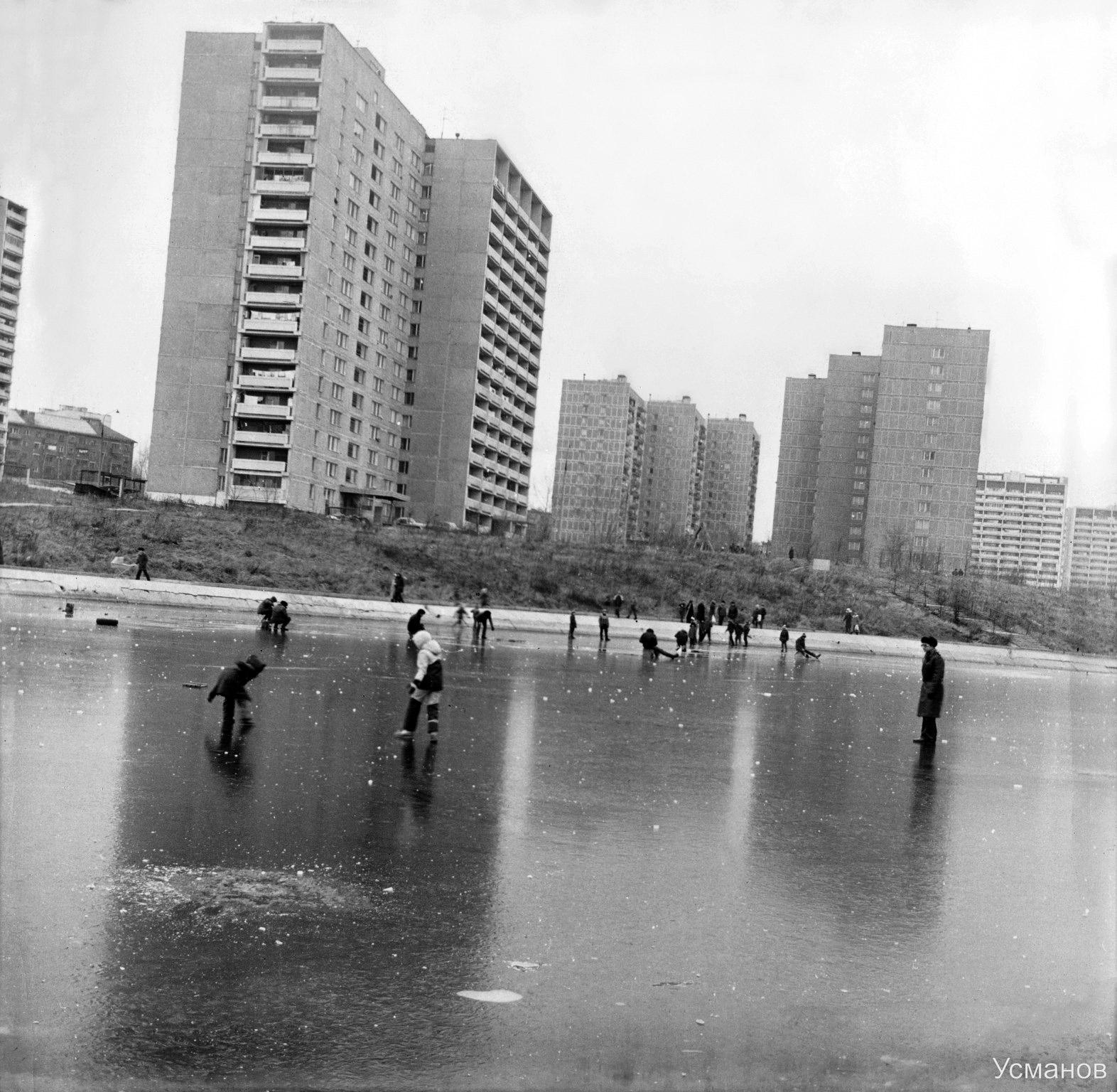 1986 Зимняя рыбалка в Очаково. Валерий Усманов
