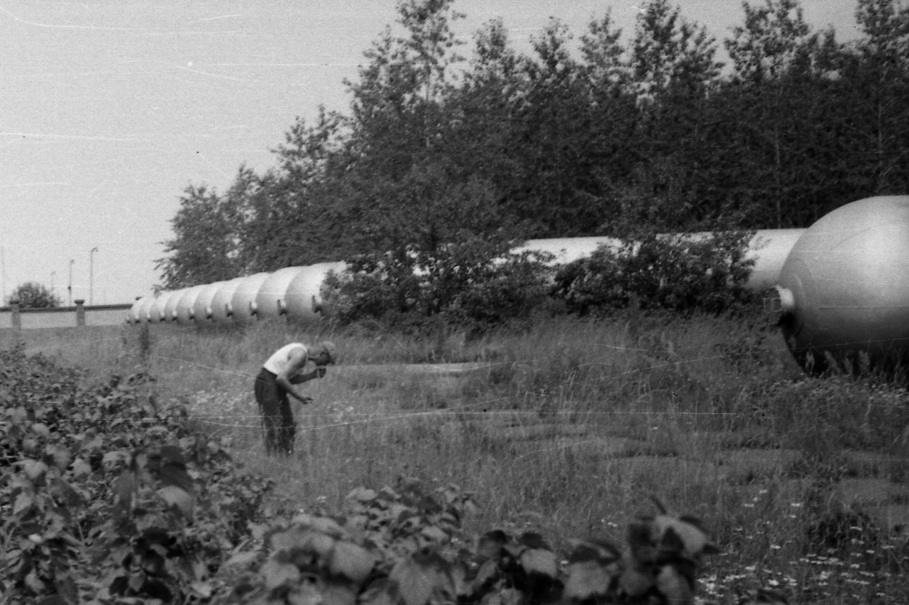 1958 Баллоны для хранения газа на Аминьевке
