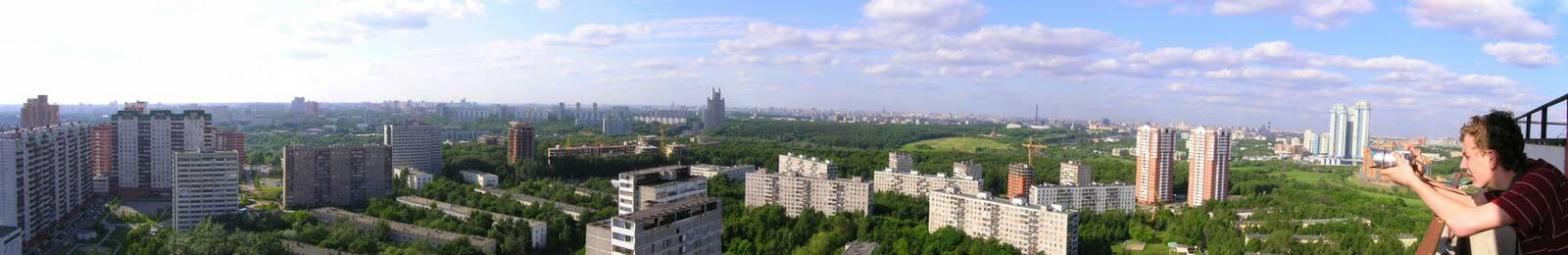 2005 Панорама улицы Веерная. Весна 2005 г.