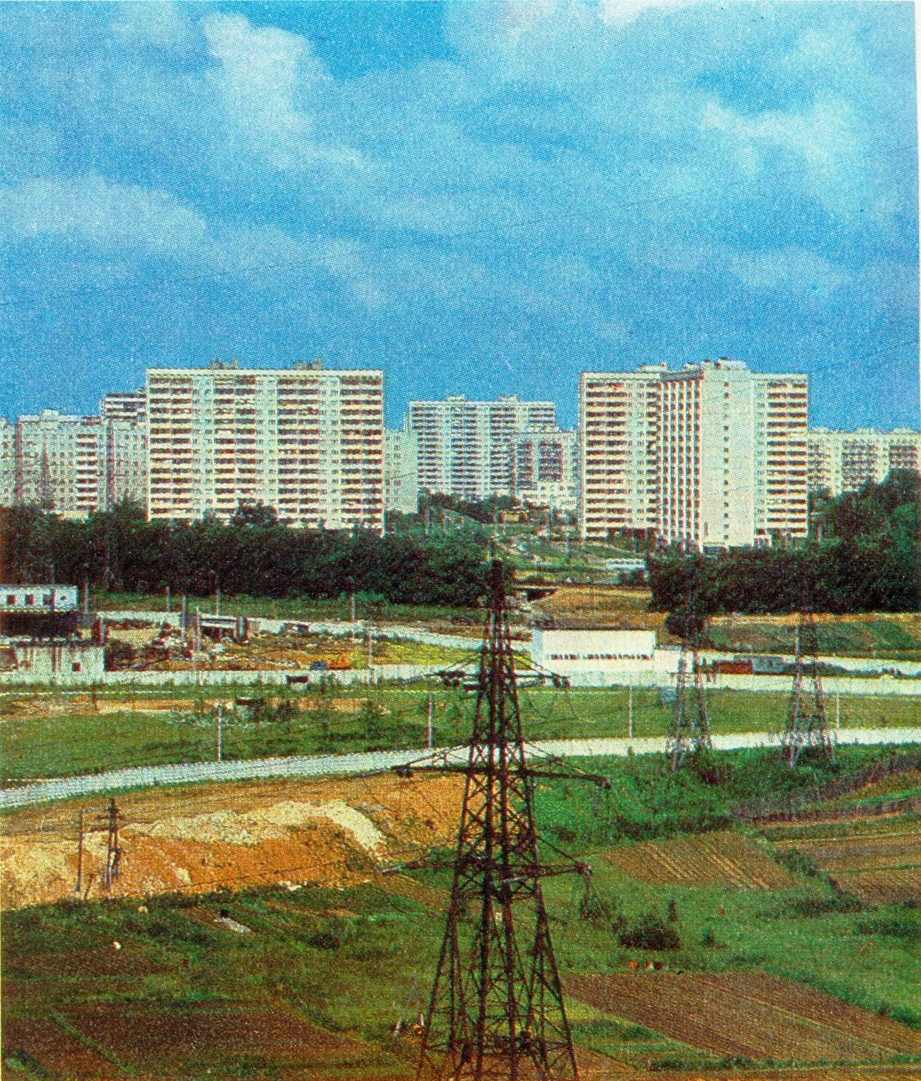 1975-76 Матвеевское. Панорама из Раменок