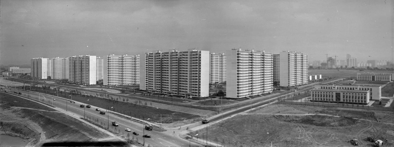 1980 Панорама Олимпийской деревни. Жилой комплекс. Петров Ю.Е.3