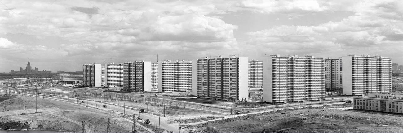 1979 20 июня, Вид на Олимпийскую деревню. Фото Василия Егорова и Алексея Стужина