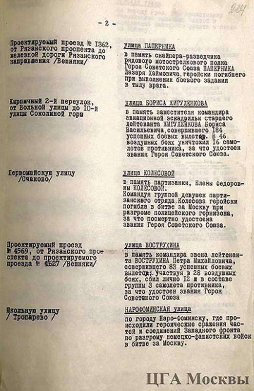 Решение Мосгорисполкома 1966