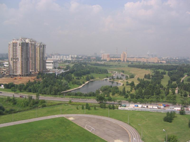 2004 вид на Олимпийские пруды