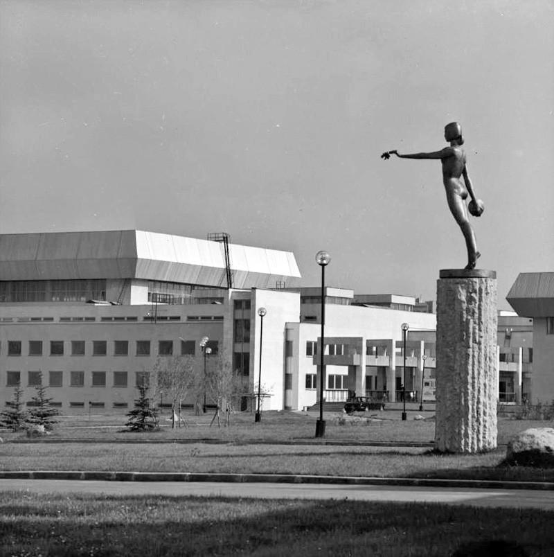 1980-84 гг. Олимпийская деревня. Вид на плавательный бассейн. Томбан Б.Ш.