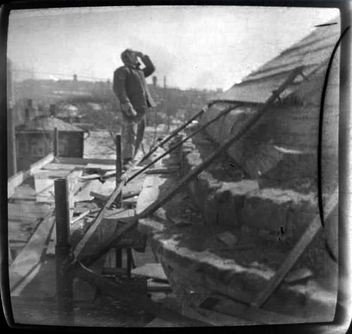 1968 Храм Дмитрия Ростовского. Фрагмент контструкции крыши основного объема2