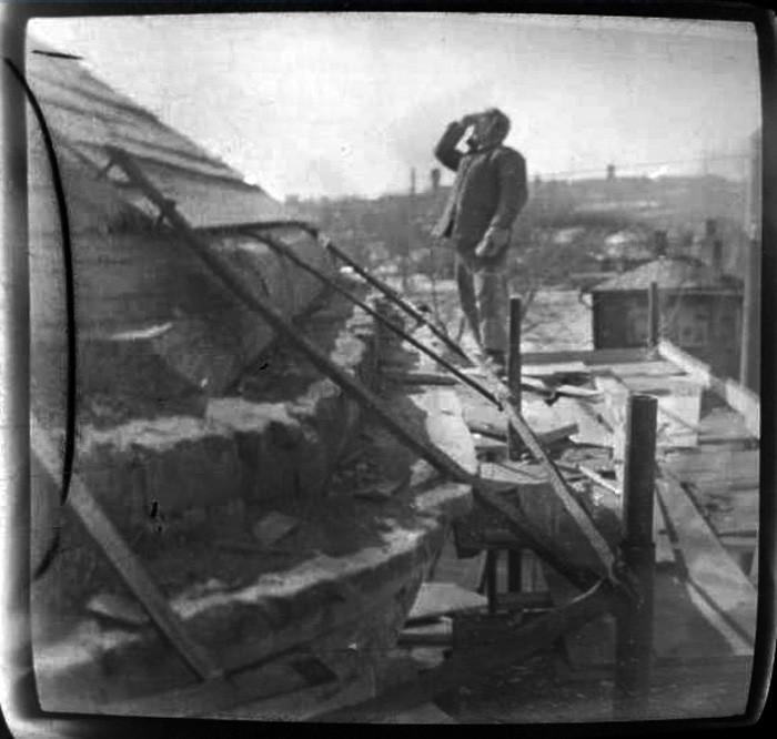 1968 Храм Дмитрия Ростовского. Фрагмент контструкции крыши основного объема3