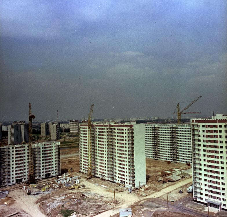 1978 Общий вид строительства Олимпийской деревни. Ожичихин