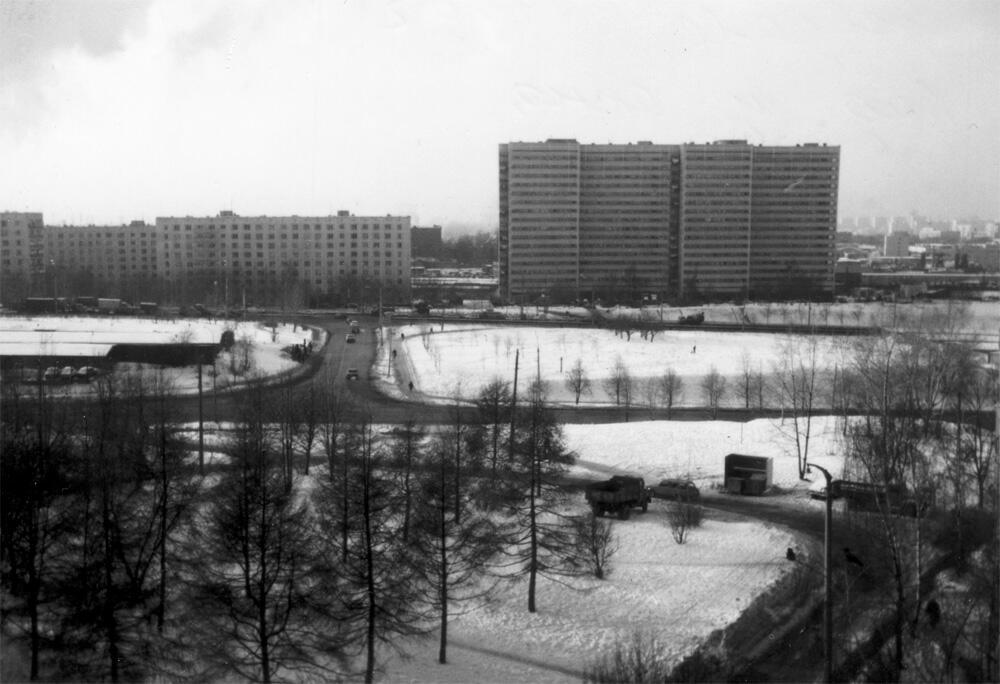1996 Вид на Аминьевское шоссе д.13,15,17