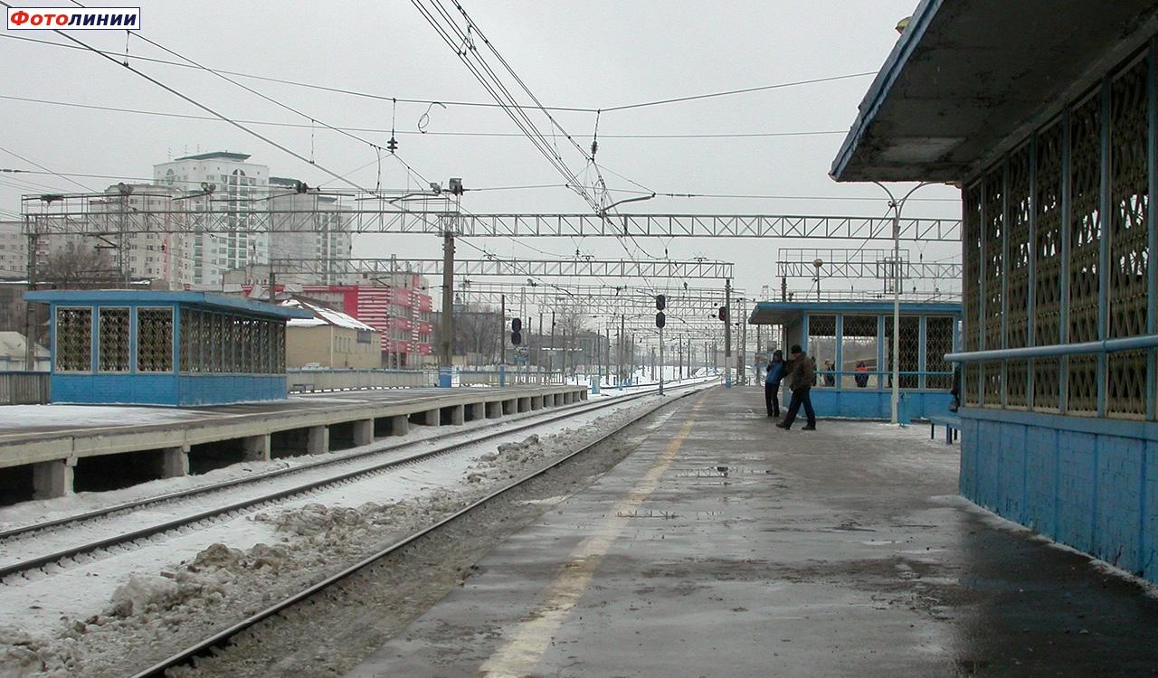 2008, 1 февраля. Вид в сторону Калуги, станция Очаково. Сергей Николаев