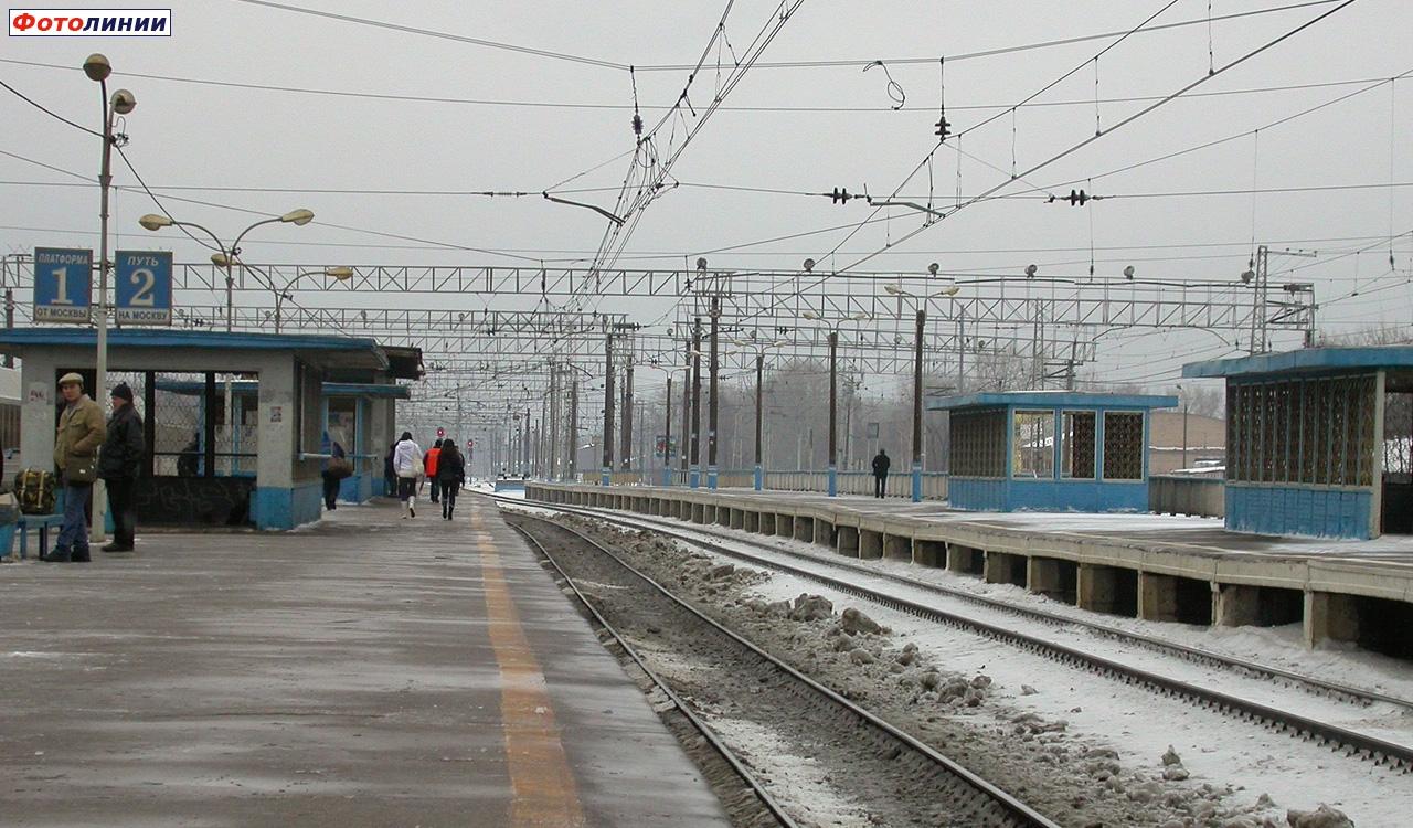 2008, 1 февраля. Вид в сторону Москвы, станция Очаково. Сергей Николаев