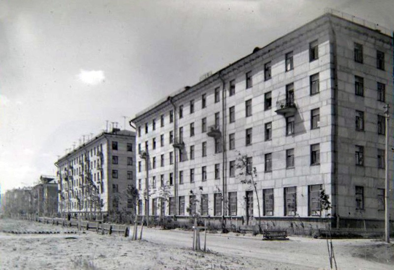 1956-58 Жилые крупноблочные дома в Очаково. Перспектива застройки